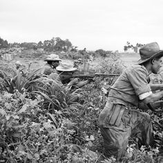 Opérations dans les Giongs, avec le 22e BTA (22e Bataillon de Tirailleurs Algériens). Tra Vinh, october 1950. First Indochina war