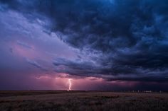 a beautiful lightning storm