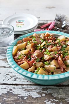 Skinny Bacon Potato Salad