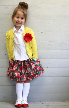 adorable floral lotta skirt // Toertjes&pateekes