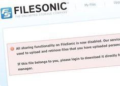 FileSonic encerrado
