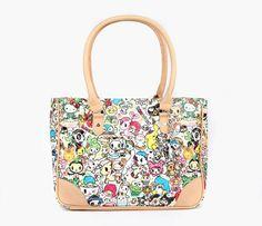 "【2013】【tokidoki x Sanrio Characters】Shoulder Tote Bag (US$100, 10.5"" x 14.5"" x 5"") ★Little Twin Stars★"