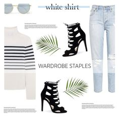 """Wardrobe Staples: The White Shirt"" by antemore-765 ❤ liked on Polyvore featuring Topshop Unique and Le Specs"