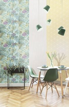 We source and supply beautiful, high-end wallpapers and wall coverings for home and commercial use. Wallpaper Paste, Green Wallpaper, New Wallpaper, Wallpaper Collection, Watercolor Effects, Piece A Vivre, Blooming Flowers, Traditional House, True Colors