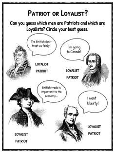 Patriots vs Loyalists Worksheets, Facts and Definition For Kids Social Studies Notebook, 4th Grade Social Studies, Teaching Social Studies, History Classroom, History Education, Teaching History, American Revolution For Kids, American History Lessons, Jackson School