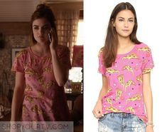 Pretty Little Liars: Season 6 Episode 17 Aria's Pink Pizza T-Shirt