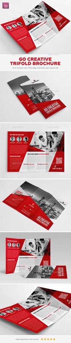 Creative Trifold Brochure Template #brochure Download: http://graphicriver.net/item/go-creative-trifold-brochure/11477894?ref=ksioks