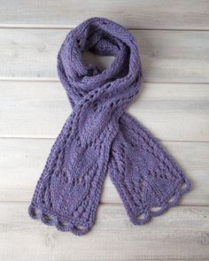 Isn't it about time you learned how to knit a scarf with the elegance, style, and grace you exhibit on a day-to-day basis? With the Arrowhead Lace Scarf, you can. The elegant chevron lace stitch gives this knitted scarf a light and airy look you can adopt into your wardrobe all year long.