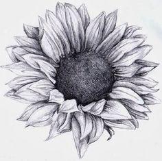 Sun flower tattoo idea