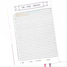 Love this time tracker / imagine how pretty it will be all filled out; visual representation / instagram @plantosucceed