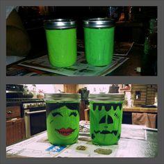 Halloween mason jars   alyssabracken