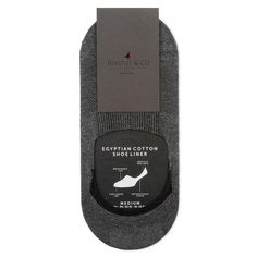 Our Astor - Dark Grey Invisible Socks are designed and cut to be hidden below the shoe-line. Made in England from Egyptian cotton and featuring a non-slip heel grip to always keep the sock in place.   65% Egyptian Cotton / 33% Nylon / 2% Lycra Invisible - Cut Below The Shoe-line Non-slip Heel Grip Antibacterial Finish Made In England