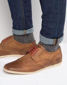 Base London Shore Leather Brogue Shoe