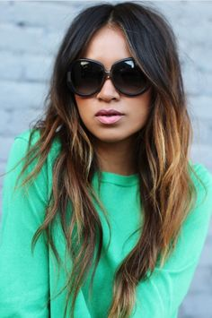 Melting color drama with #ombré #hair #haircolor #brunette #highlights