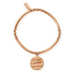 ChloBo Rose Gold Plated Luna Soul Peace Love Bracelet RBNBD134