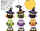 Items similar to Halloween buho Clip Art Halloween Clipart on Etsy
