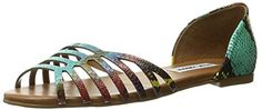 Steve Madden Womens Louisa Flat Sandal Multi Snake 85 M US -- Click on the image for additional details.(This is an Amazon affiliate link and I receive a commission for the sales)