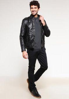 #Mustang joffre giacca di pelle black Nero  ad Euro 270.00 in #Mustang #Uomo abbigliamento giacche
