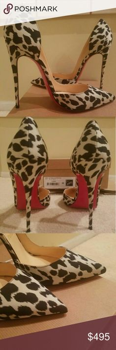 Christian Louboutin Pumps Size 39 Rare women's 120 Christian Louboutin Pumps Size 39, satin fabric finish, never worn new in box. Limited edition purchased in Paris. Christian Louboutin Shoes Heels