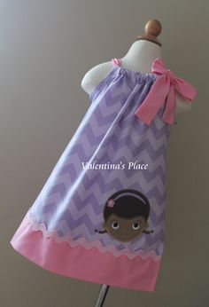Super Adorable Doc McStuffins pillowcase dress by Valentinasplace, $30.00