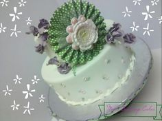 Baby Shower Cake by Reva Alexander-Hawk for Merci Beaucoup Cakes #itsagirl, #reva, #fondant