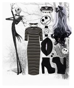 """""""Jack skellington gender swap"""" by mianord ❤ liked on Polyvore featuring Sugarhill Boutique, Disney, Lime Crime, Torrid, WALL and Rosendahl"""