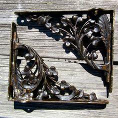 Victorian Iron Shelf Brackets - Cast Iron - Ornate Design - Antique Brackets…