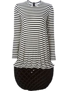 concertina hem striped dress