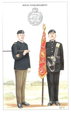 Royal Tank Regiment Geoff White Ltd card painted by William Younghusband. British Army Uniform, British Uniforms, British Soldier, Commonwealth, British Army Regiments, Military Cards, British Armed Forces, Brothers In Arms, Military Insignia