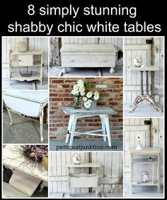 8 Simply Stunning Shabby Chic White Tables