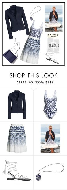 """Paint Your Look With Canvas by Lands' End: Contest Entry"" by marthalux ❤ liked on Polyvore featuring Canvas by Lands' End, 3.1 Phillip Lim, Lands' End, summertime, summersandals and springsummer2015"