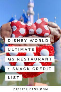 DIGITAL Disney World Snacks + Restaurant List / Disney Snack List / Disney Planner / Disney Planning Sheets / Disney Schedule - Disney 2021 - Best Disney World Restaurants, Disney World Parks, Disney World Planning, Walt Disney World Vacations, Disney Travel, Disney Worlds, Disney Cruise, Disney Snacks, Disney Food
