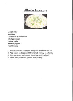 Alfredo Sauce Sauce Recipes, Cooking Recipes, Half And Half Cream, Alfredo Sauce, Melted Butter, Booklet, Fun Stuff, Dips, Pasta