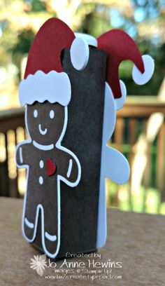 Cookie Cutter Christmas gingerbread lip balm holder.
