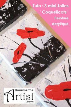 BecomeTheArtist-Peinture-acrylique-Mini-Toiles-Coquelicots