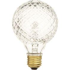 Cut Glass Halogen 40W Light Bulb by CB2