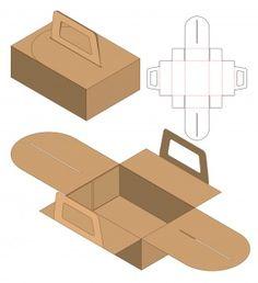 Box packaging die cut template design Premium Vector – Design is art Box Packaging Templates, Food Box Packaging, Cake Packaging, Food Packaging Design, Diy Gift Box, Diy Box, Karton Design, Paper Box Template, Ticket Template