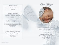 Child Funeral Order Of Service Template  Kid Memorial Service