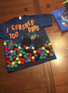 100 days of school shirt 100 Day Project Ideas, 100 Day Shirt Ideas, 100 Day Of School Project, First Day Of School, School Projects, Kindergarten Teacher Shirts, Kindergarten Projects, 100th Day Of School Crafts, School Fun