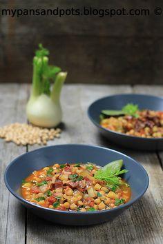 My pans and pots: Čorba sa harisom i leblebijom / Soup with harissa and chickpea