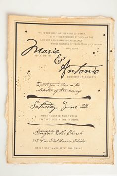 Shakespeare Wedding Invitation Suite by Kristen O'Callaghan, via Behance