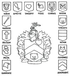 MEDIEVAL theme>>Cub Scout website with costume and other ideas for Medieval, also good for fun in the family requirement, make a family crest Cub Scouts Bear, Tiger Scouts, Girl Scouts, Medieval Crafts, Medieval Party, Family Crest Symbols, Knight Shield, Good Knight, Symbols And Meanings