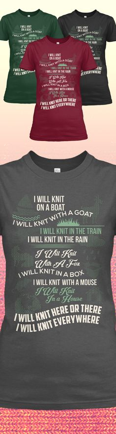 Love Knitting? Check out this awesome Knitting Shirt. Makes for a perfect gift too! Free Shipping available today, don't miss out!