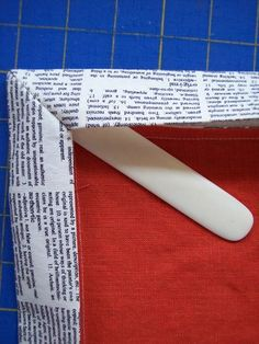 tutorial for mitered corner line and cotton napkins