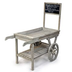 Wooden Retail Display Cart with Chalkboard / Lucky Clover Trading Company