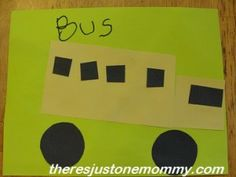 "B is for ""bus"" (and ""boat!"") simple shape vehicle crafts for letter ""B""  -- There's Just One Mommy"