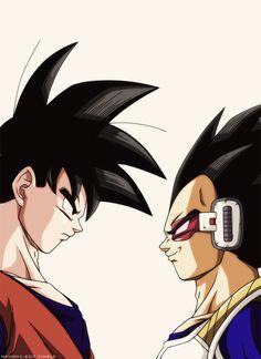 It's over (Goku and Vegeta), over (Goku and Vegeta) Dragon Ball is a Japanese manga series written and illustrated by Akira Toriyama. Originally serialized in Weekly S. Goku E Vegeta, Goku Vs, Dragon Ball Z Shirt, Dragon Ball Gt, Anime Echii, Anime Comics, Akira, Goku Face, Manga Dragon