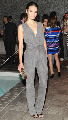 OMG, I am so jealous of this Vintage Halston on Jordana Brewster. The style, the color, the fit, perfection.  #jumpsuits