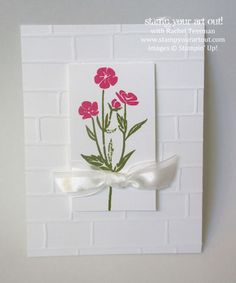 Brick Wall Embossing Folder and Wild About Flowers stamp set…#stampyourartout #stampinup - Stampin' Up!® - Stamp Your Art Out! www.stampyourartout.com