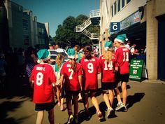 Under12 Girls heading to watch Sydney FC.